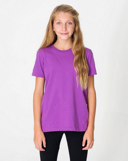 American Apparel 2201ORG Drop Ship Youth Organic Fine Jersey Short Sleeve Tee