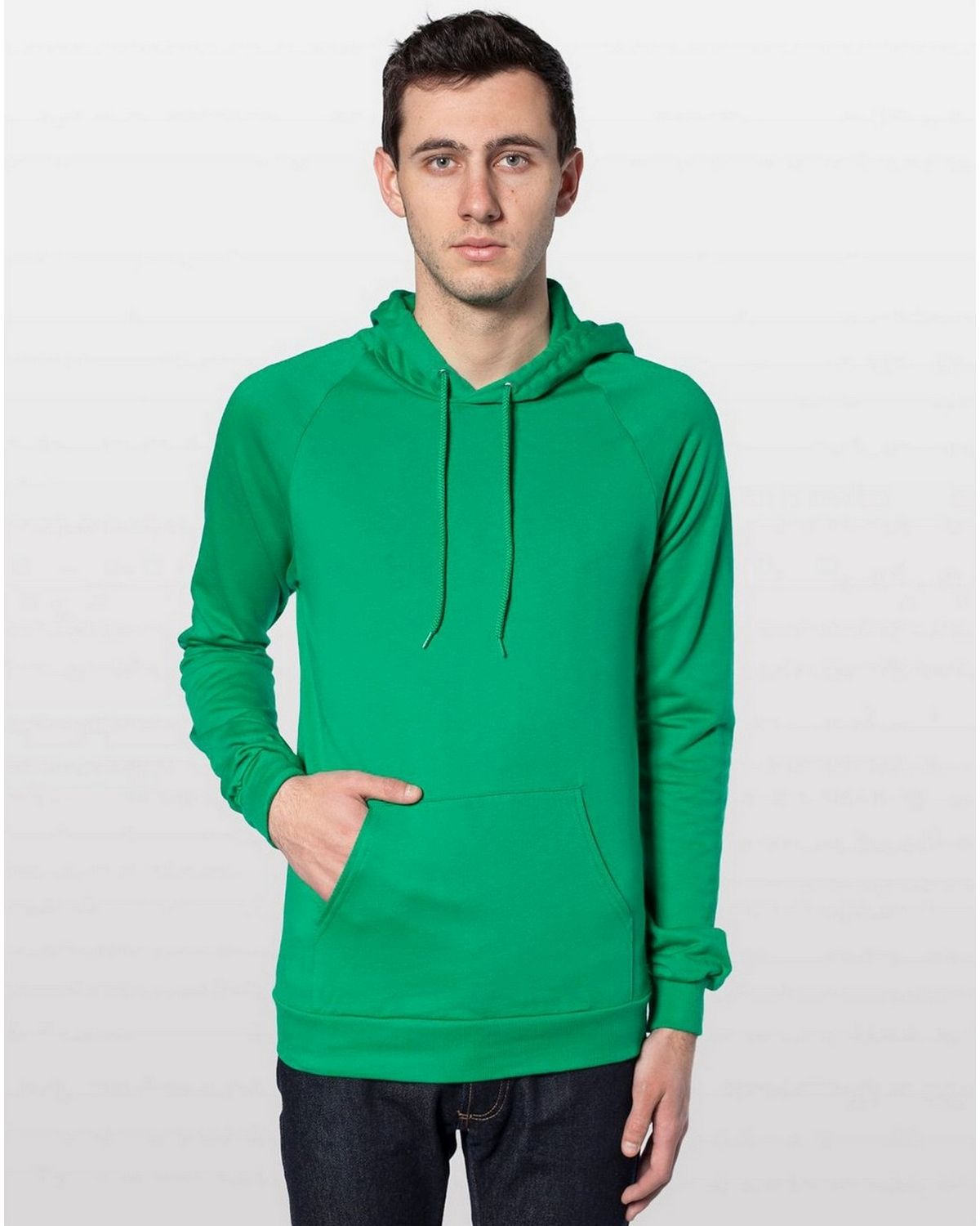 American Apparel 5495 Pullover Hoodie - Kelly Green - L 5495