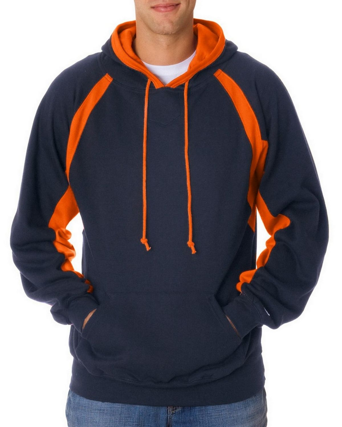 Badger 1262 Contrast Hook Hood - Navy/Burnt Orange - XL 1262