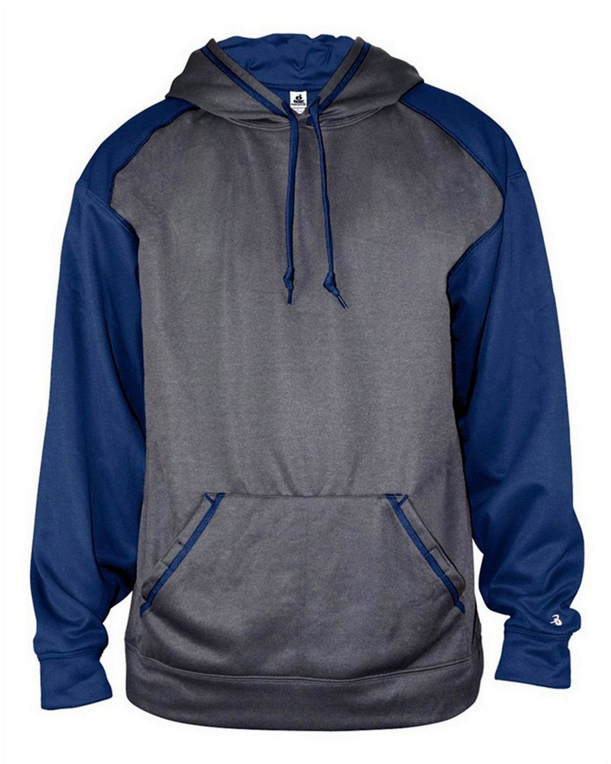 Badger 1468 Sport Heather Hoodie - Carbon/Royal - M 1468