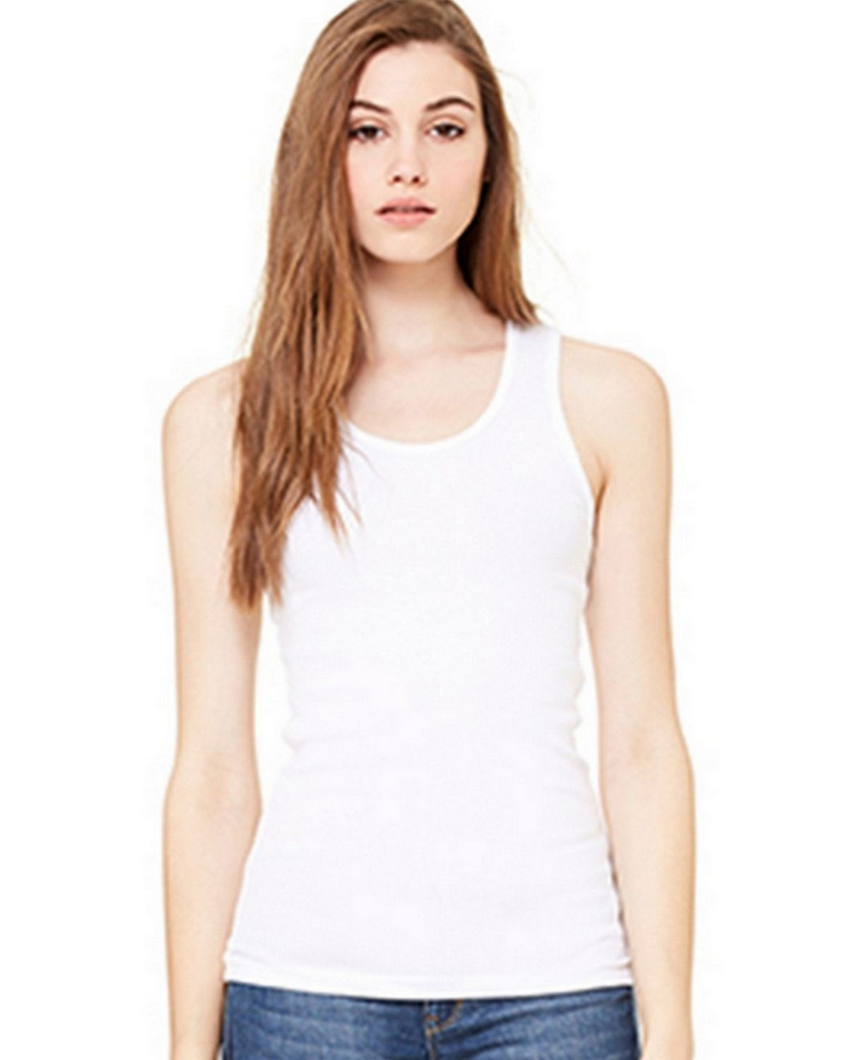 Bella + Canvas B1080 Womens Baby Rib Tank - True Royal - XL B1080