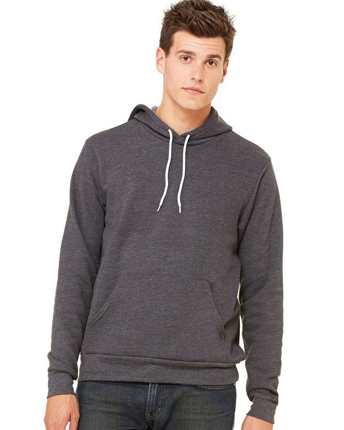 Bella + Canvas C3719 Unisex Pullover Hoodie - Heather True Royal - M C3719