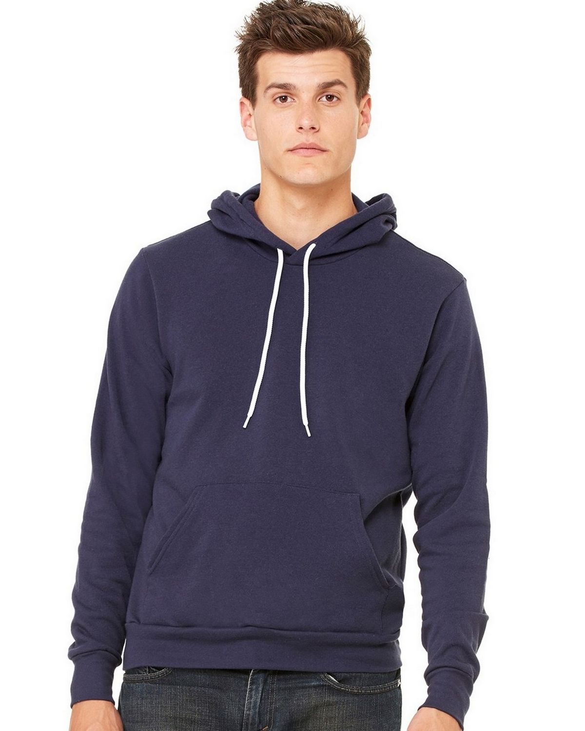Bella + Canvas C3719 Unisex Pullover Hoodie - Heather Navy - 2X C3719