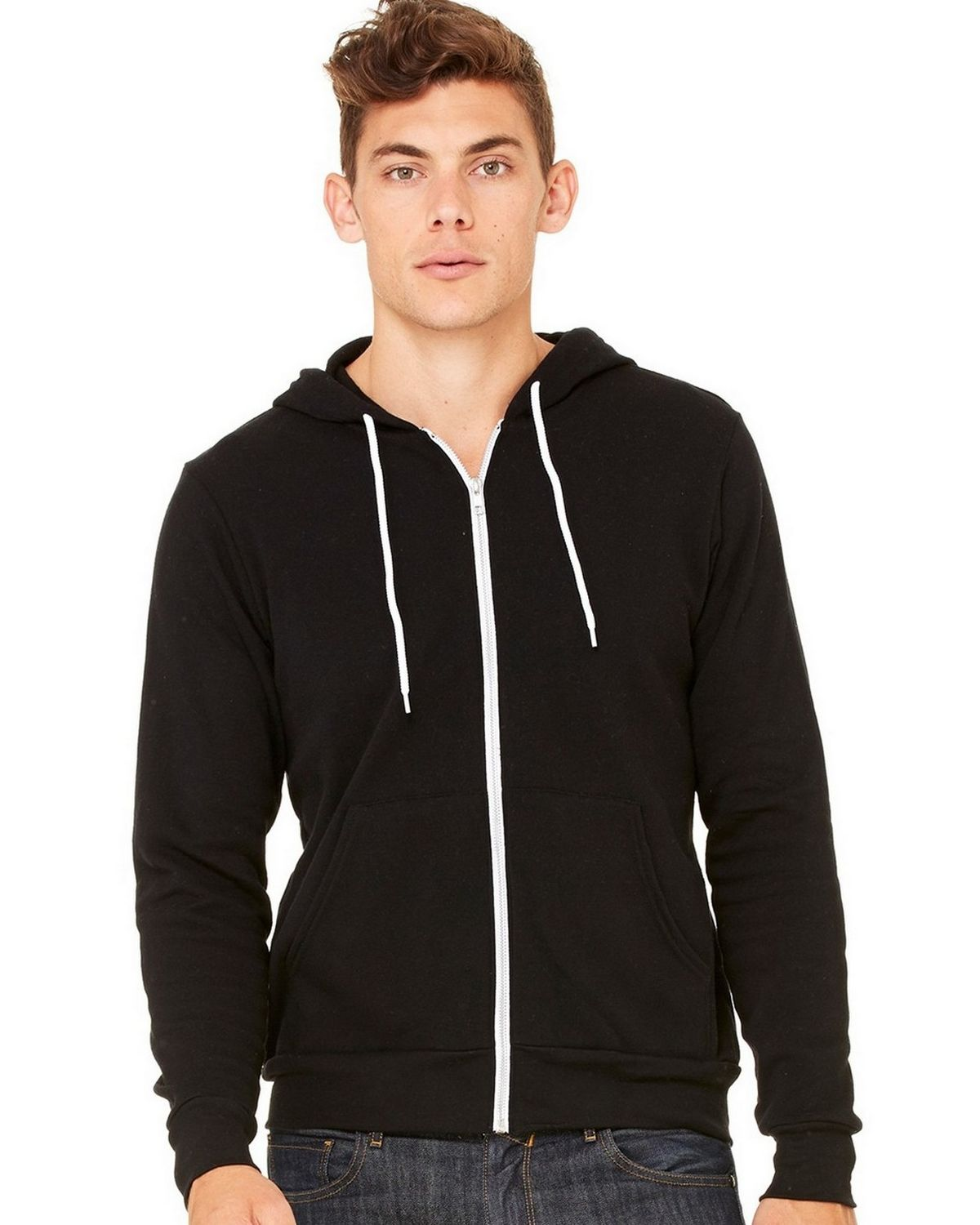 Bella + Canvas C3739 Unisex Full-Zip Hoodie - Kelly - S C3739