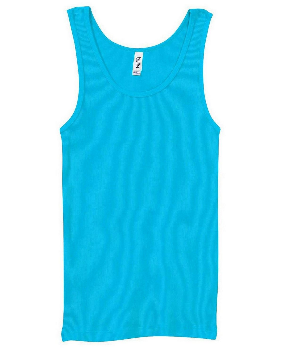 Bella + Canvas 4000 Ladies 2x1 Rib Tank - Turquoise - M 4000