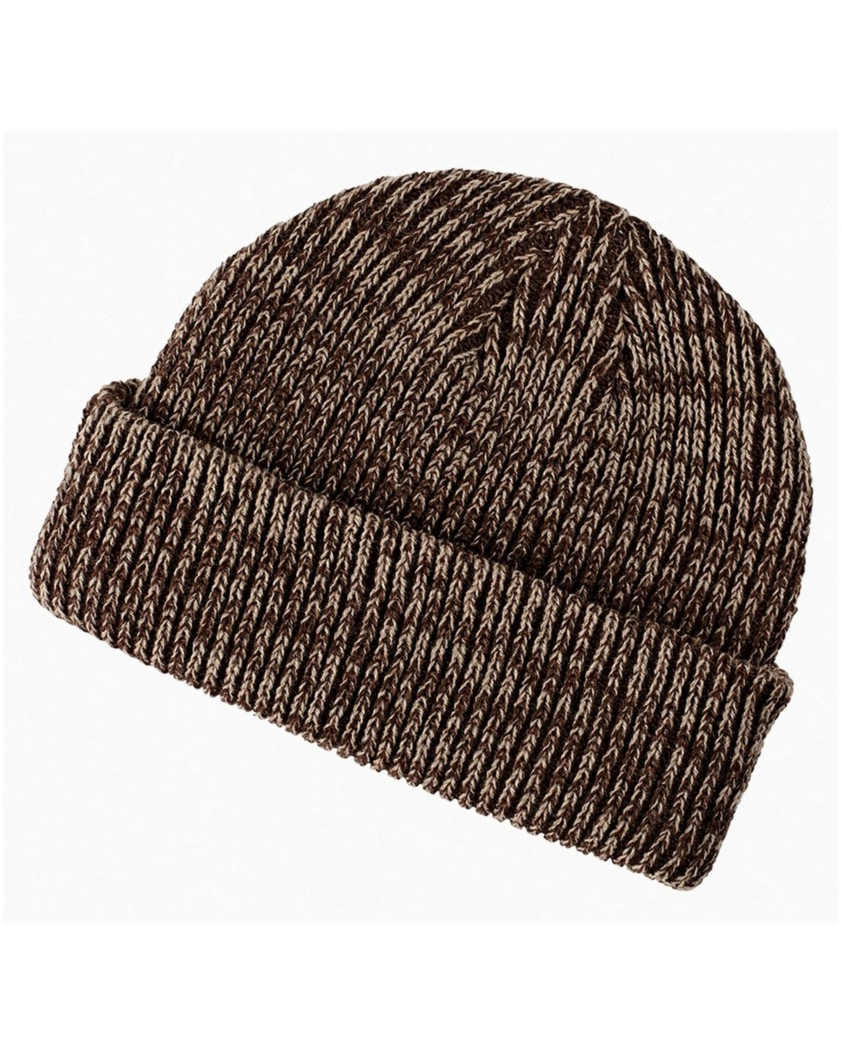 Big Accessories BA524 Marled Beanie - Brown/Khaki - One Size BA524