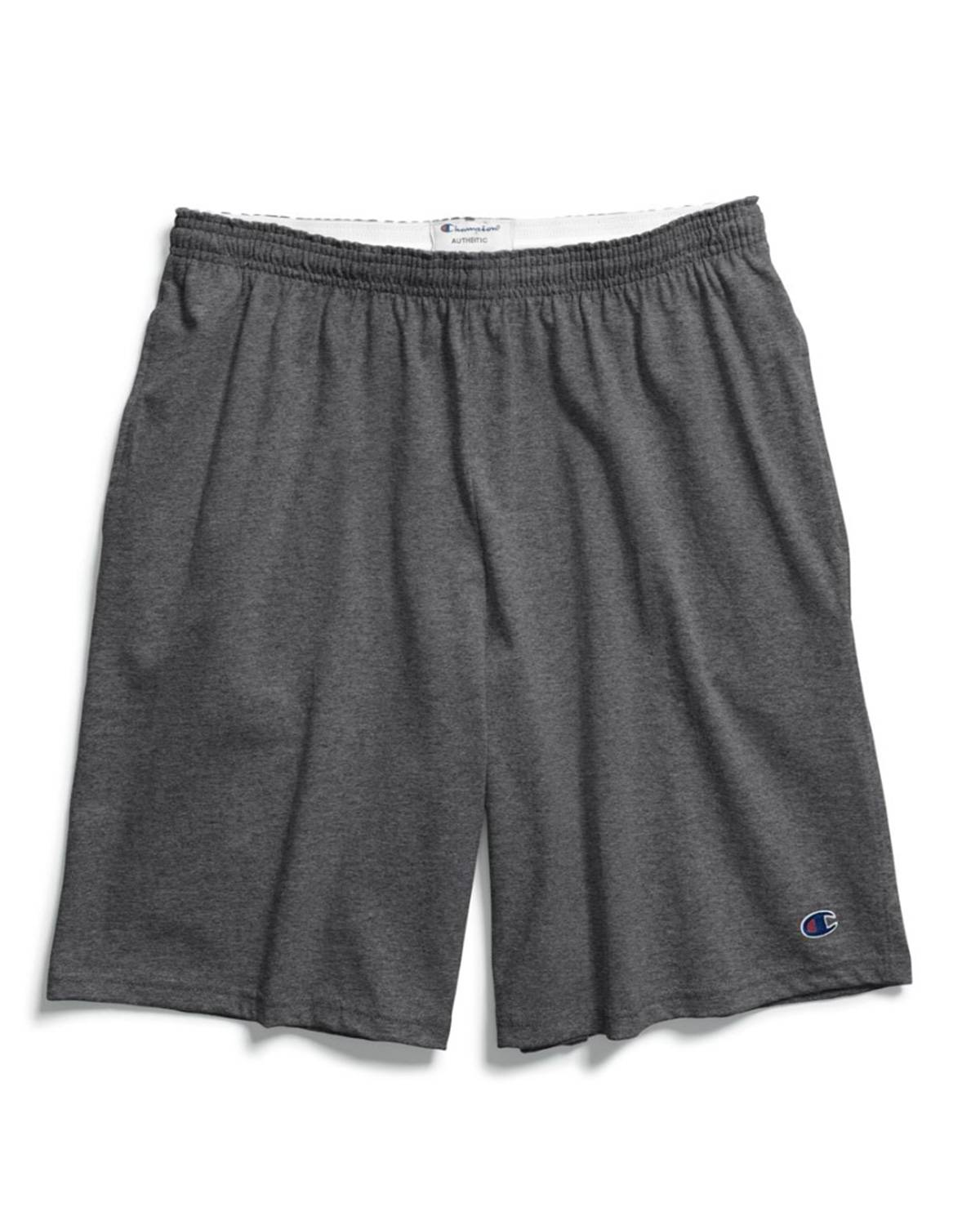 Champion 85653 Authentic Mens Shorts with Pockets - Granite Heather - S 85653
