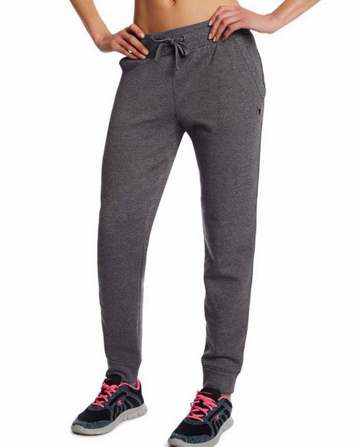 Champion M0937 Womens Fleece Jogger Pants - Granite Heather - M M0937