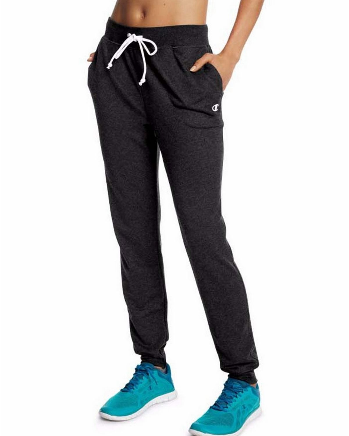 Champion M0944 Womens French Jogger Pants - Black - L M0944