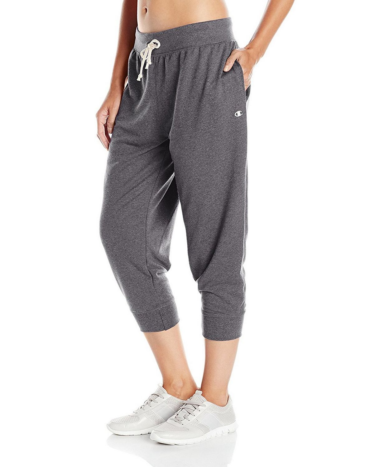 Champion M0945 Womens French Jogger Capris - Granite Heather - M M0945