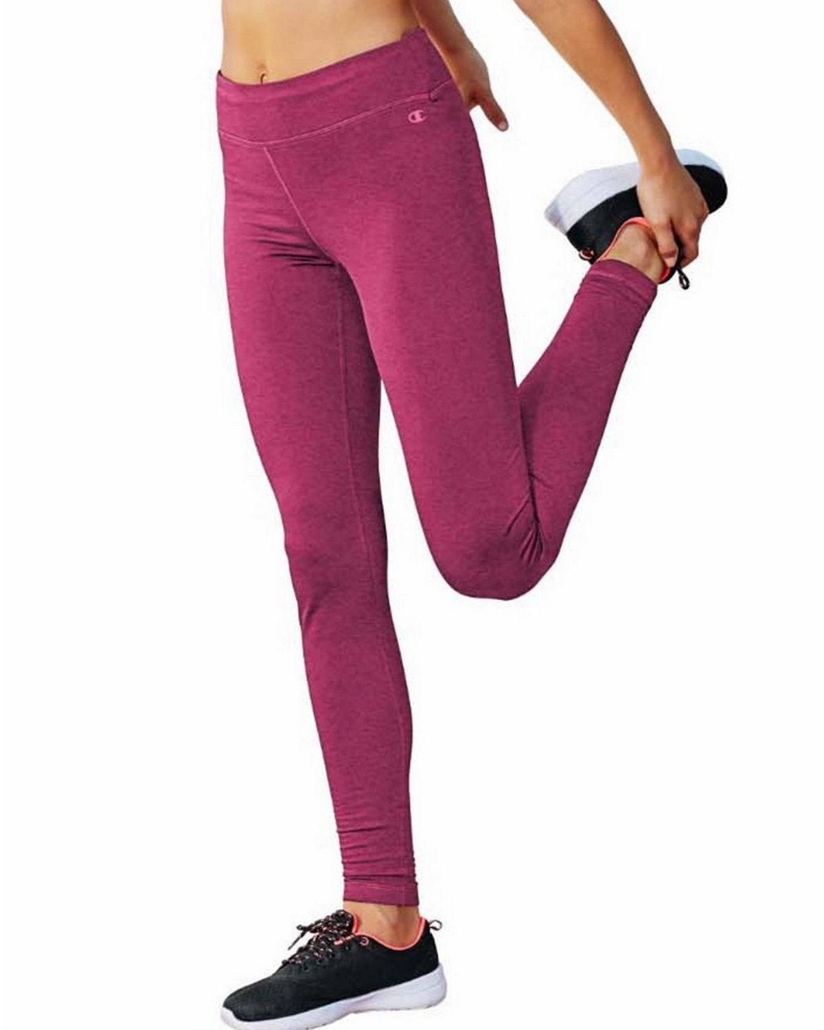 Champion M9518 Tech Fleece Tights - Berry Delight Heather - XL M9518