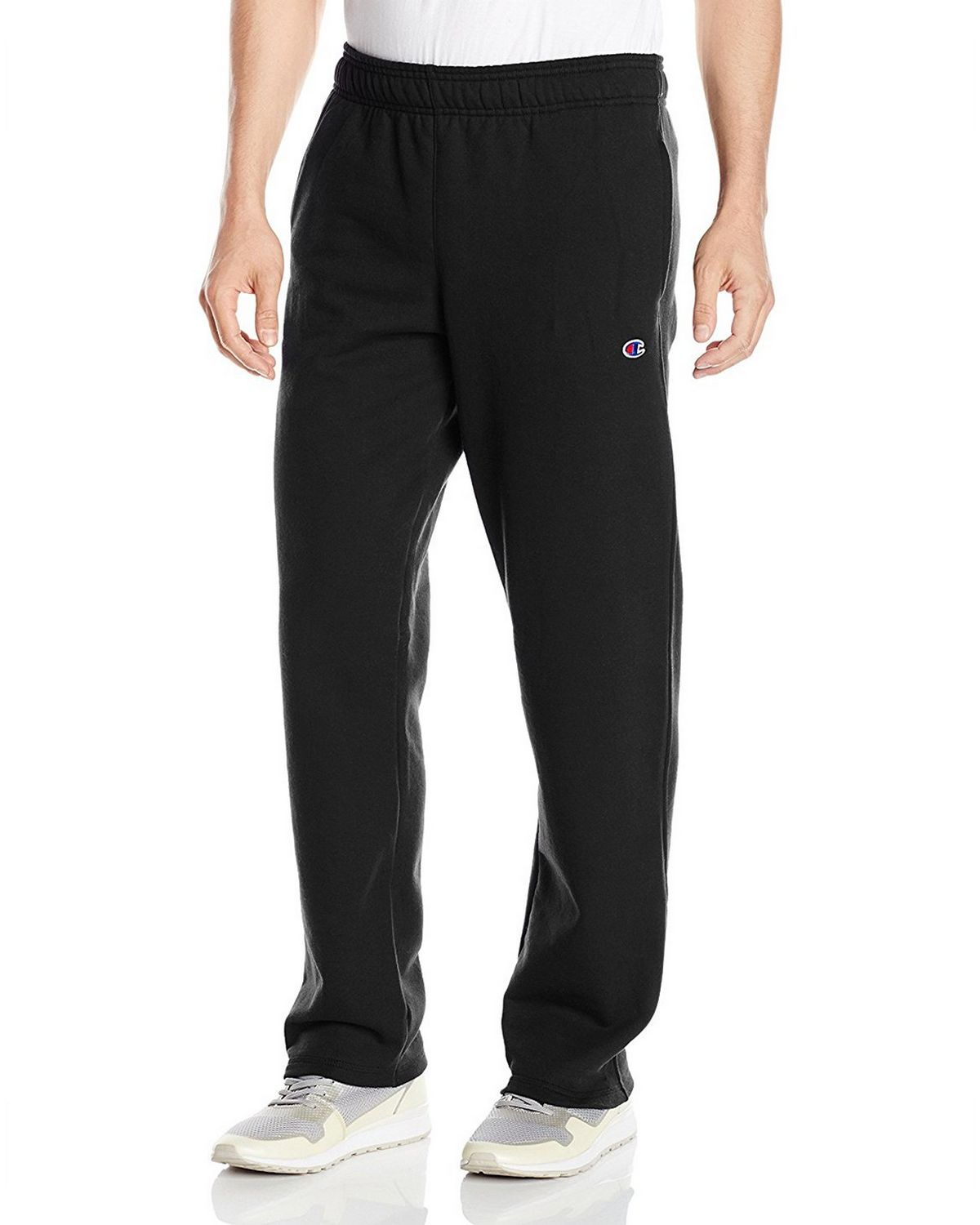 Champion Men's Powerblend Open Bottom Fleece Pant, Oxford Gray, S P0893