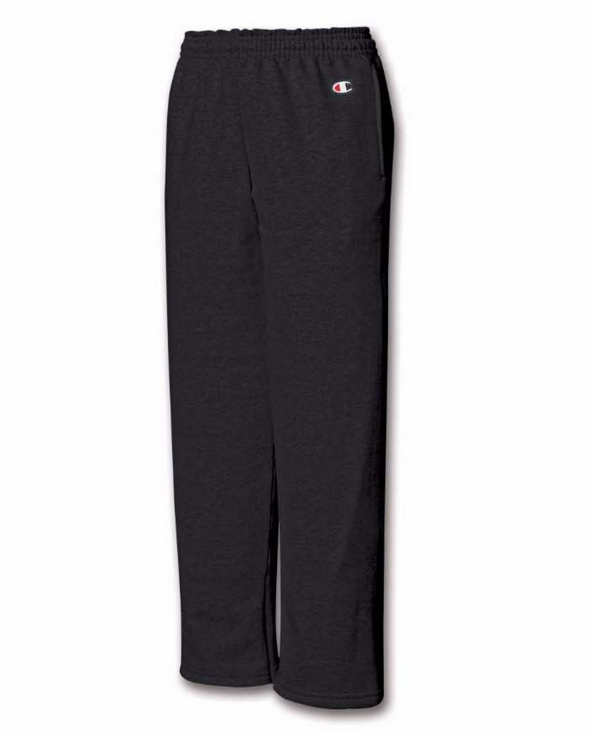 Champion Boys Eco 9 Oz 50/50 Open-Bottom Pants P890 -Black Xl P890