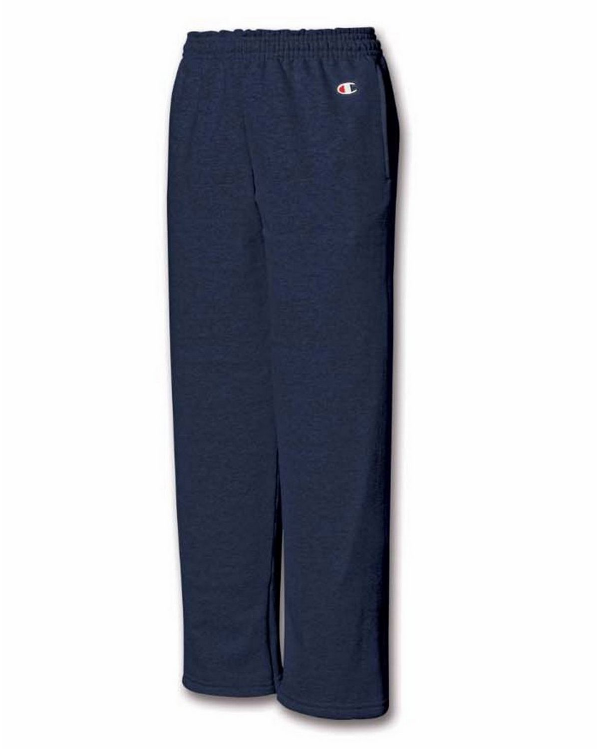 Champion P890 Youth Fleece Open Bottom Pant - Navy - M P890