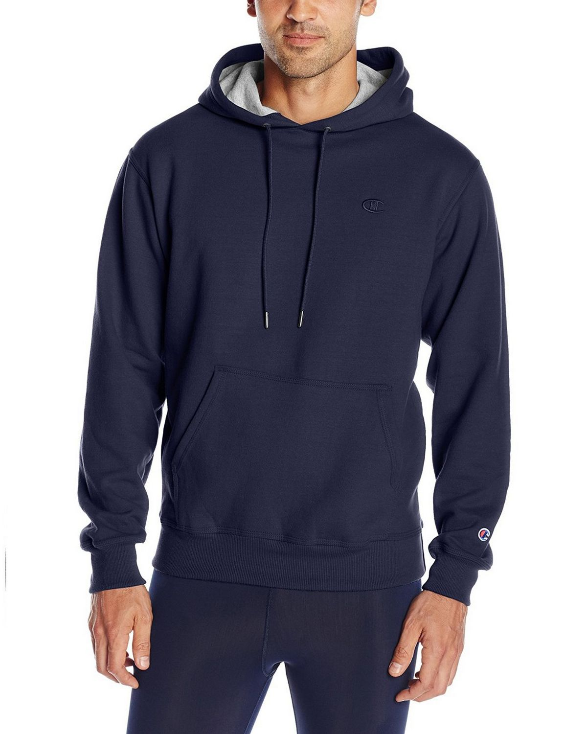 Champion S0889 Mens Fleece Pullover Hoodie - Navy - S S0889