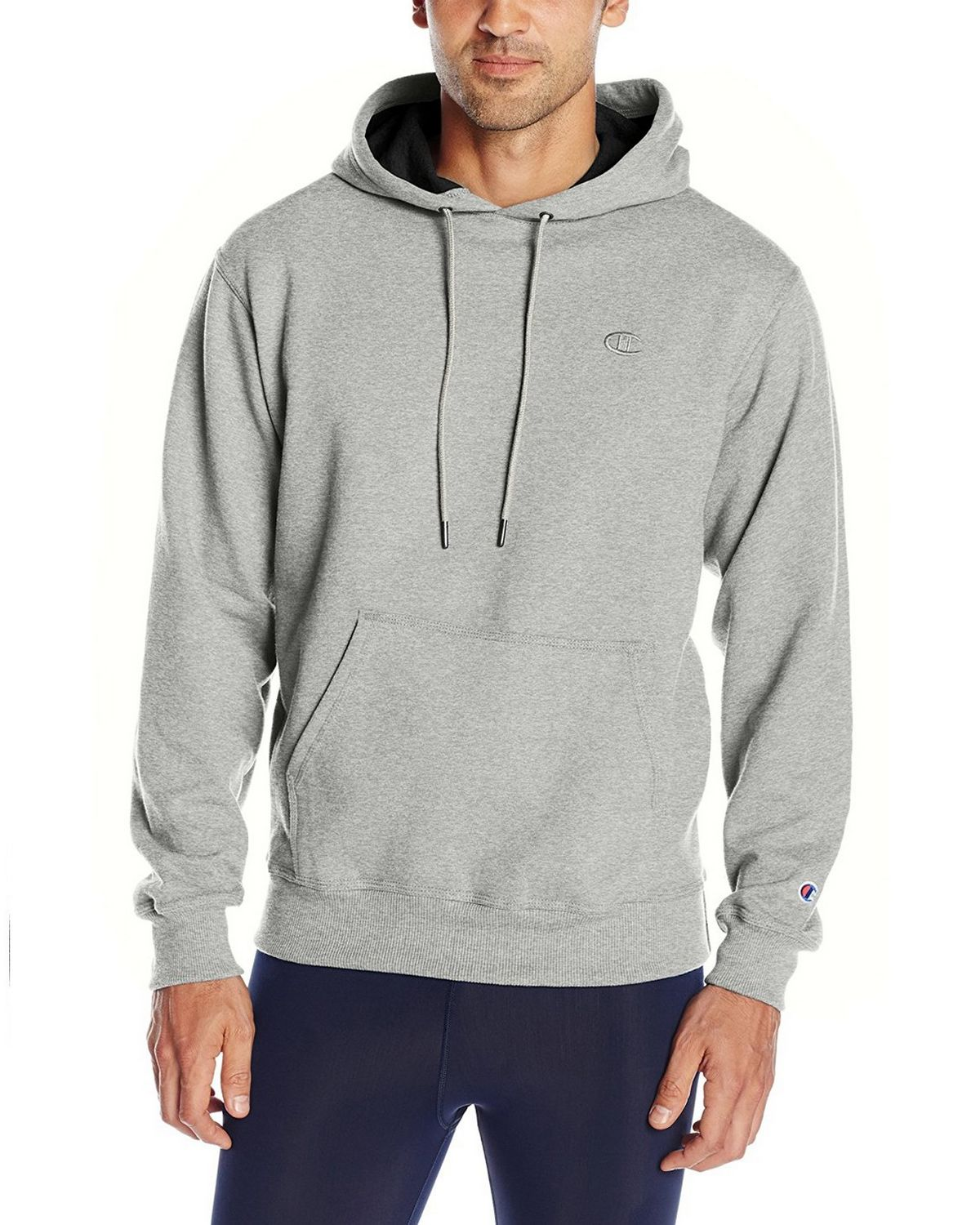 Champion S0889 Mens Fleece Pullover Hoodie - Oxford Grey - M S0889