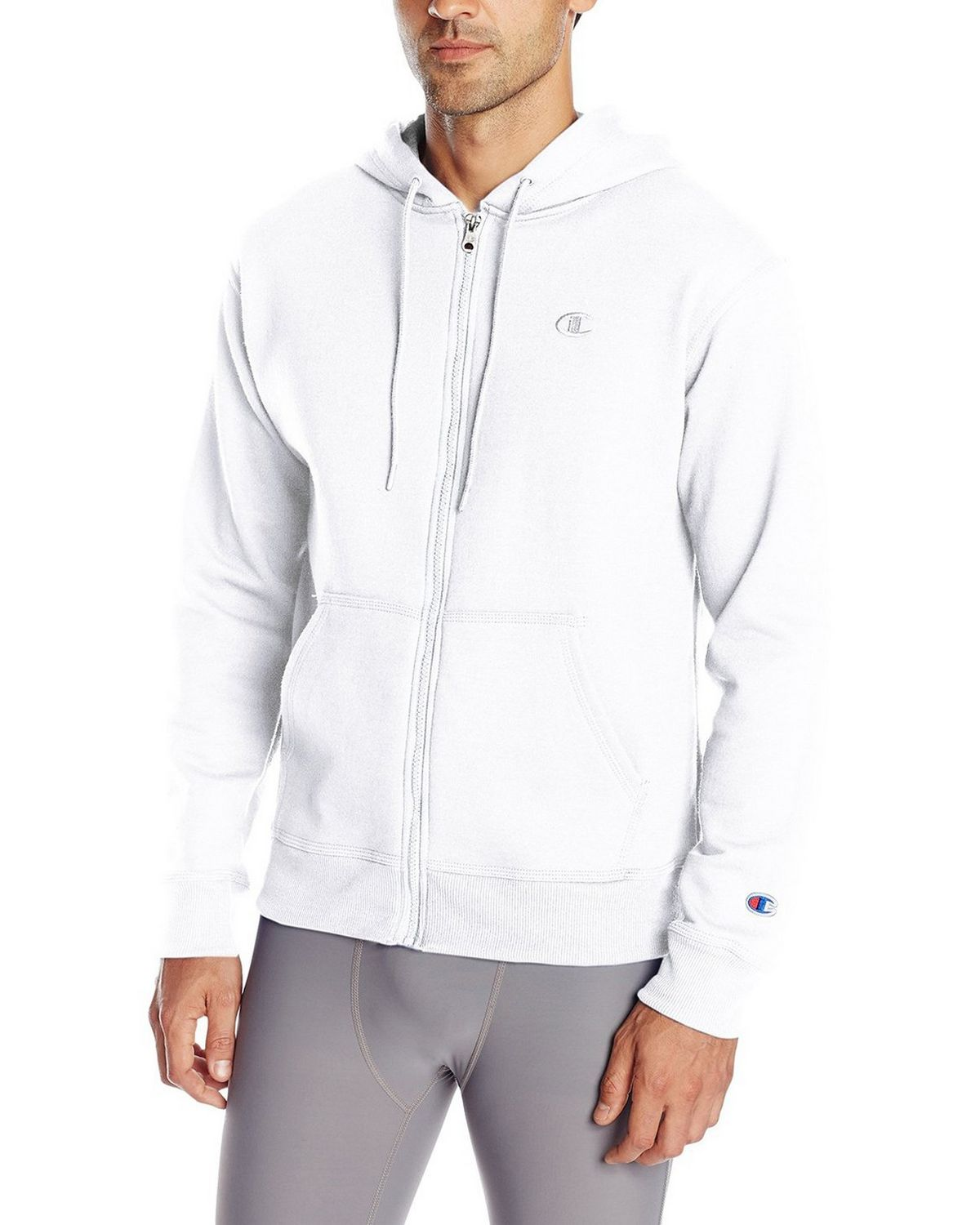 Champion Men's Powerblend Full-Zip Hoodie, Navy, Small S0891