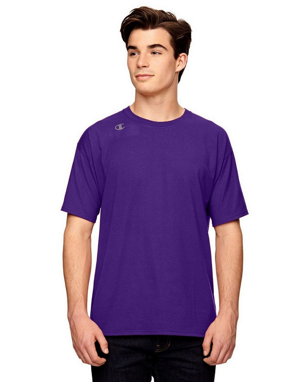 Champion T380 Vapor Cotton T-Shirt - Sport Purple - XL T380