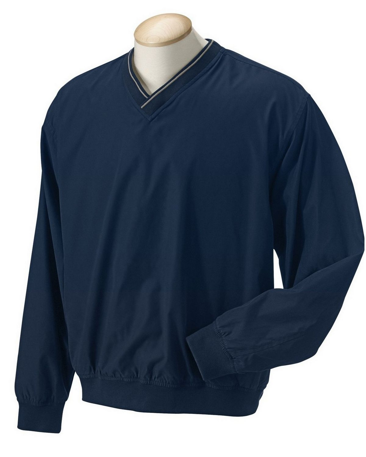 Devon & Jones D950 Mens Windcheater Windshirt - Stone/Navy - M D950