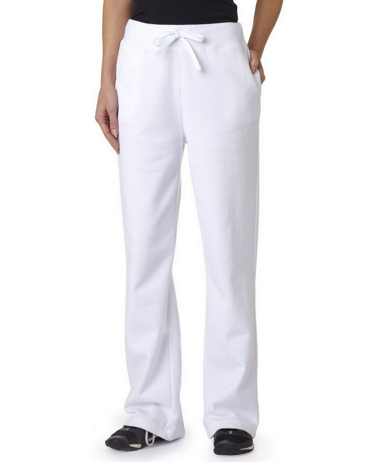 Gildan 18400FL GD Ladies Open Bottom Pant - Forest - L 18400FL