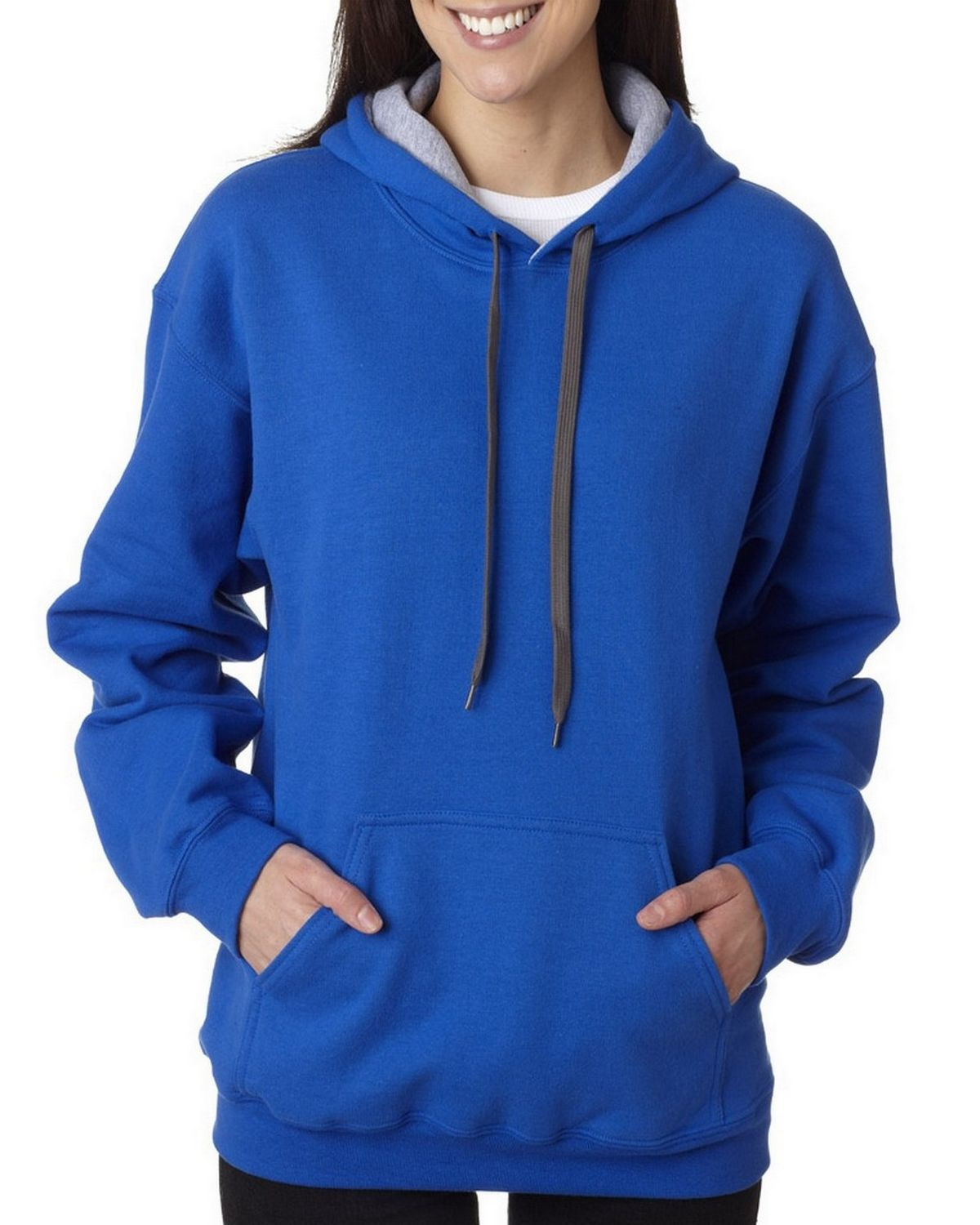 Gildan 185C00 Adult Heavy Blend Hooded Sweatshirt - Royal/Sport/Grey - 3XL 185C00