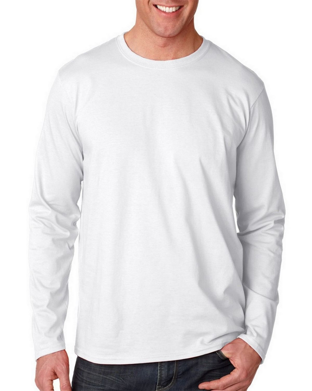 Gildan 64400 Adult Long Sleeve T Shirt - ApparelnBags.com