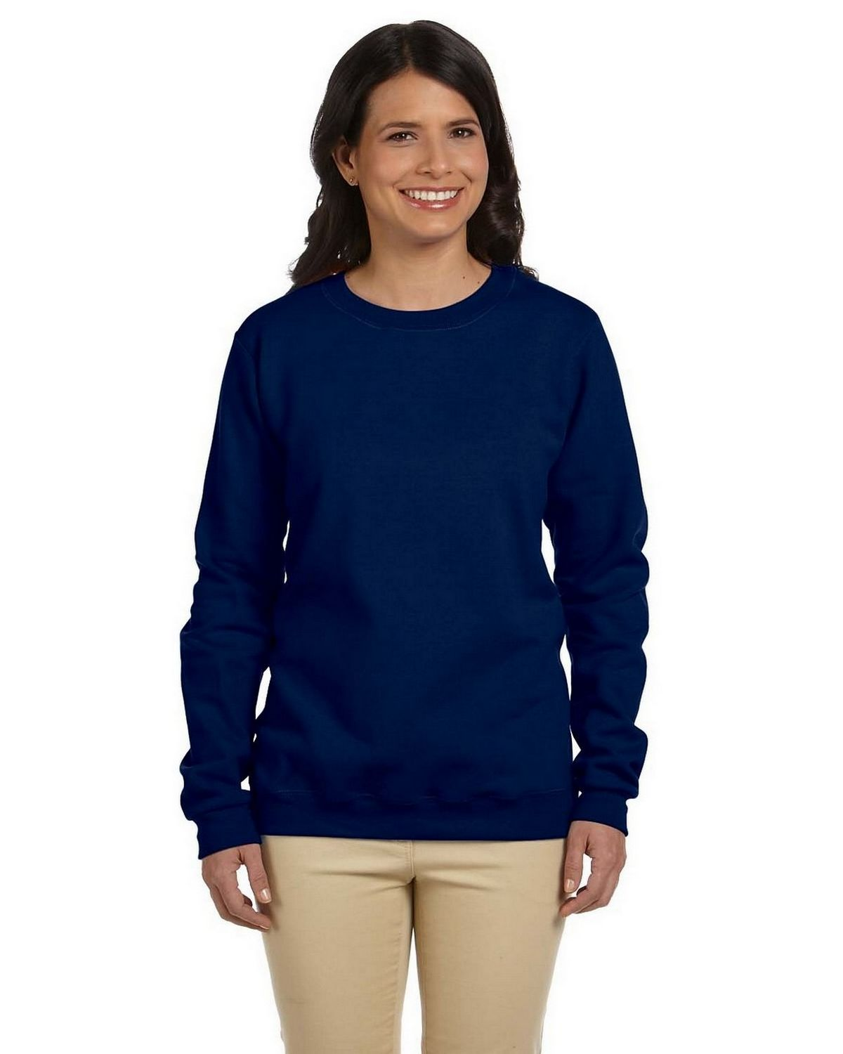 Gildan G180FL Ladies Heavy Blend Fleece Crew - Navy - S G180FL