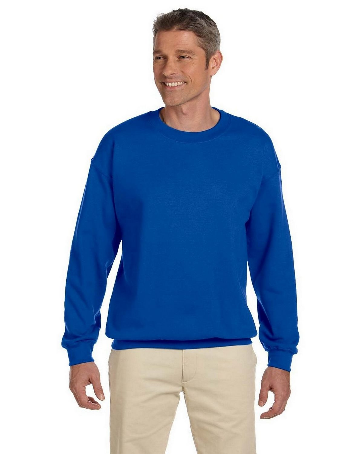 Gildan Mens 8 Oz Heavy Blend 50/50 Fleece Crew G180 -Royal L G180