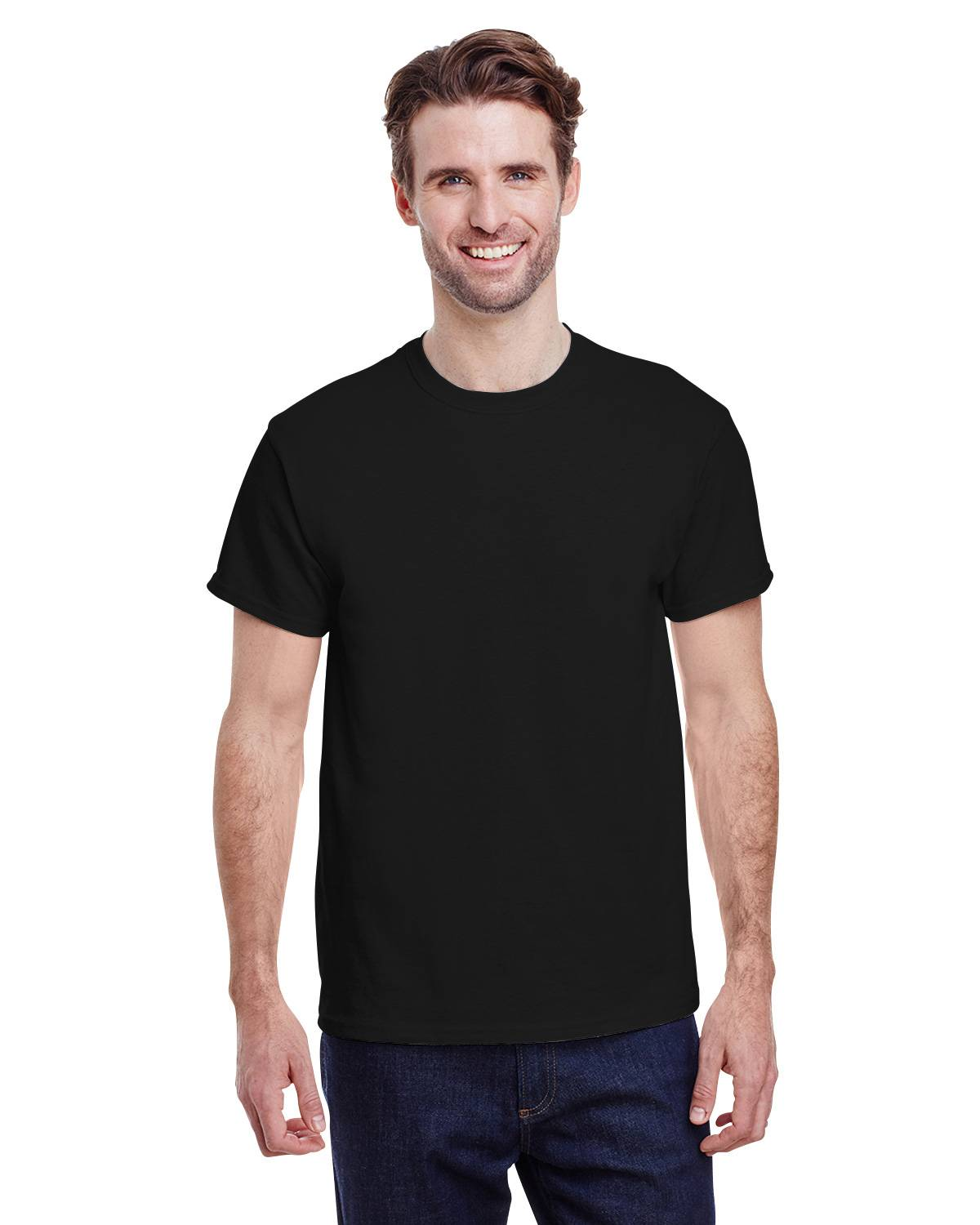 Black t shirt model template -  Black T Shirt On Model