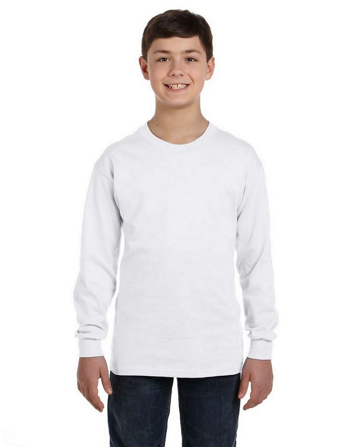 Gildan G540b Youth Heavy Cotton Long Sleeve T Shirt
