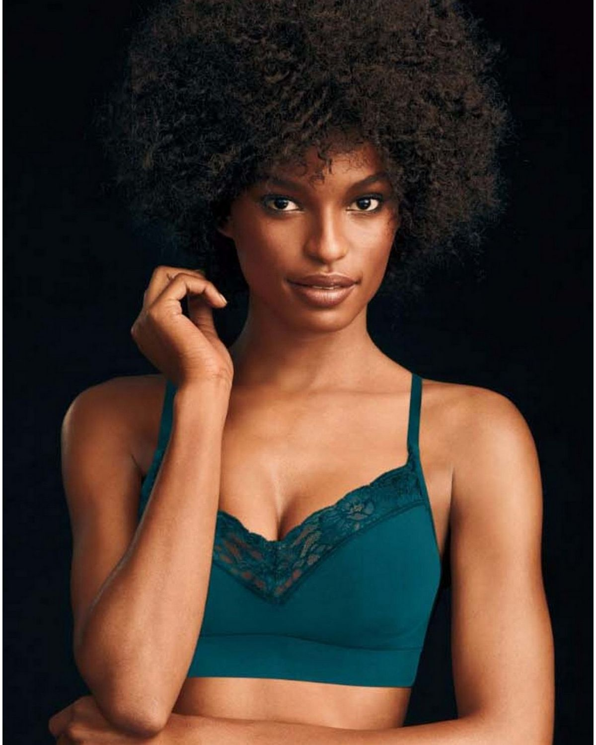 Maidenform DM7968 Seamless Lace T-Back Bra - Evening Teal - S DM7968