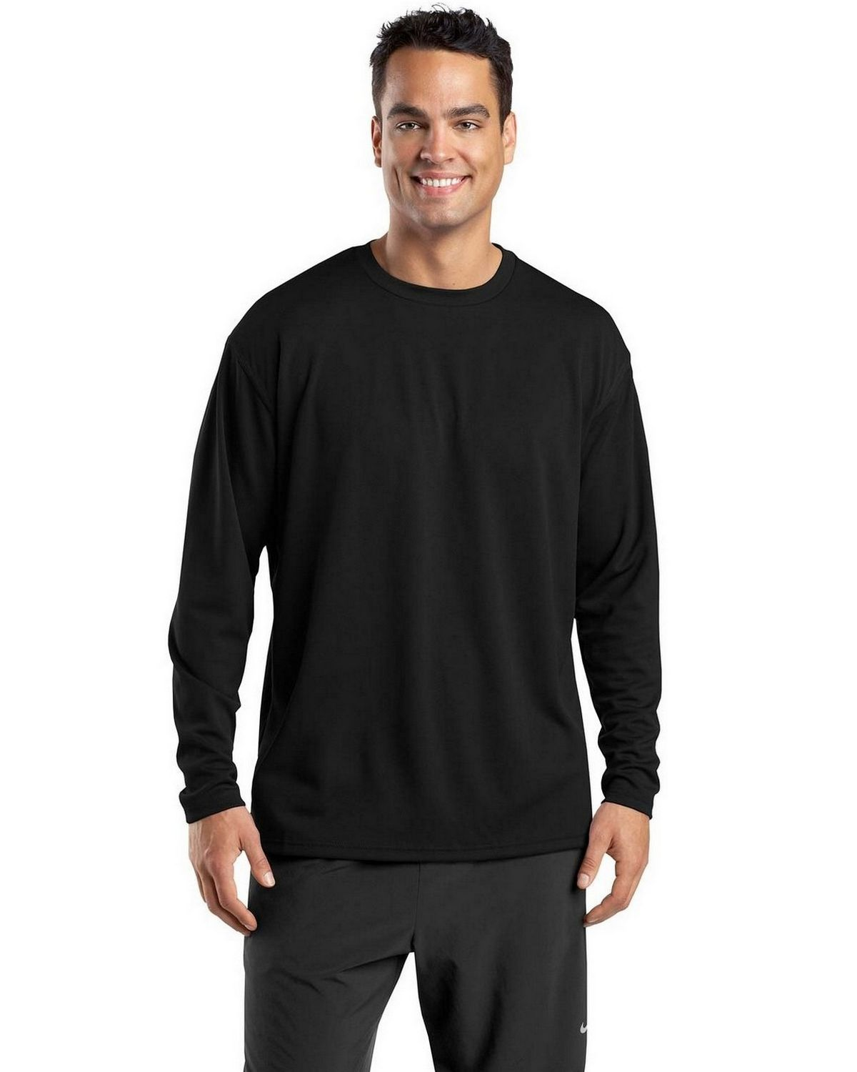 Sport-Tek K368 Dri-Mesh Long Sleeve T-Shirt - Black - XL K368