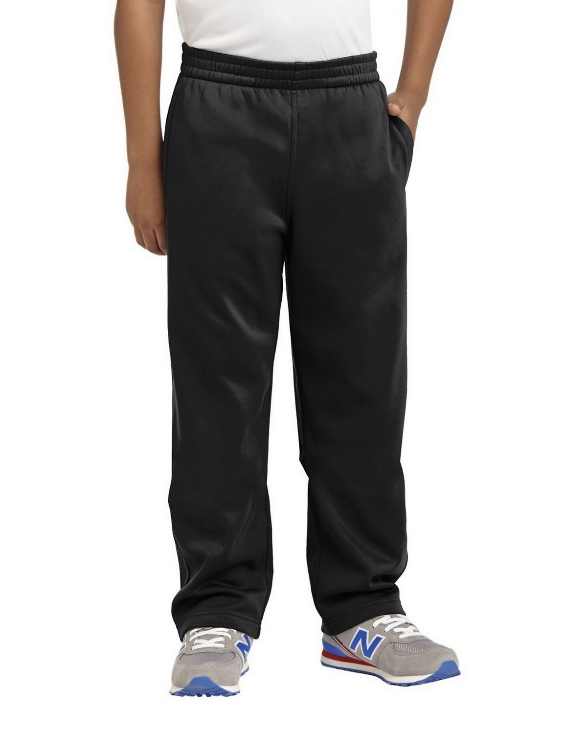 Sport-Tek YST237 Youth Sport-Wick Fleece Pant - Black - XS YST237