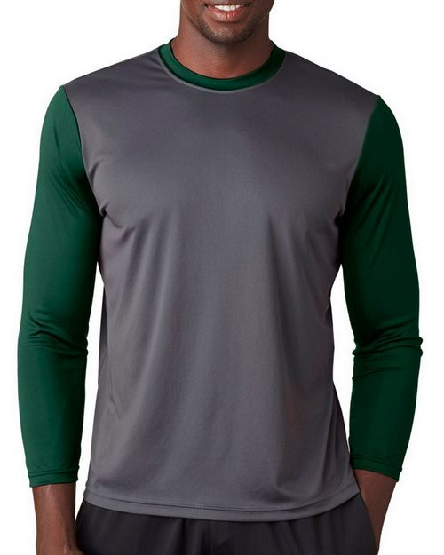 A4 N3294 Adult Baseball T-Shirt with 3/4 Sleeves
