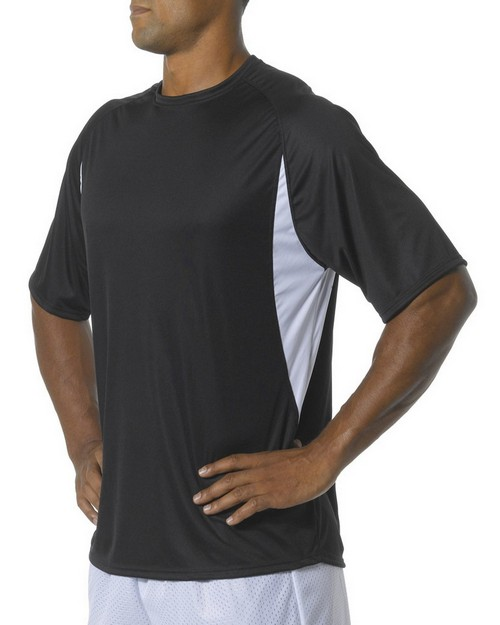 A4 NB3181 Youth Cooling Performance Color Block Short Sleeve Crew