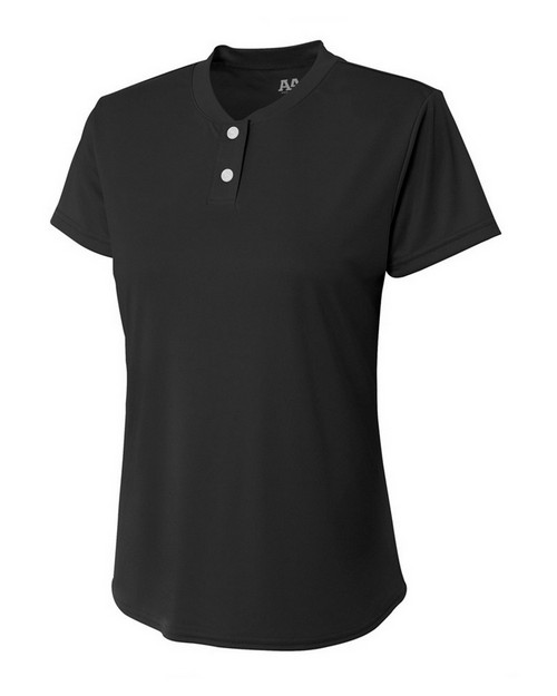 A4 NW3143 Ladies Two-Button Henley