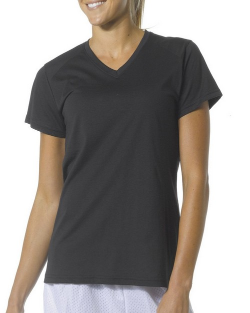 A4 NW3232 Ladies' Fusion Short-Sleeve V-Neck Tee