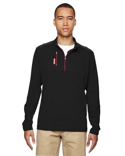 Adidas Golf A195 Puremotion Mixed Media 1/4 Zip Jacket