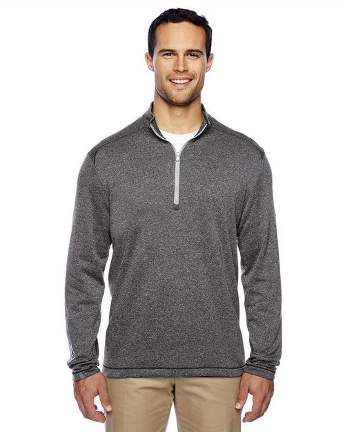 Adidas Golf A274 Brushed Terry Heather Quarter-Zip