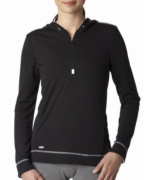 All Sport W3002 Ladies' Long-Sleeve Half-Zip Hoodie