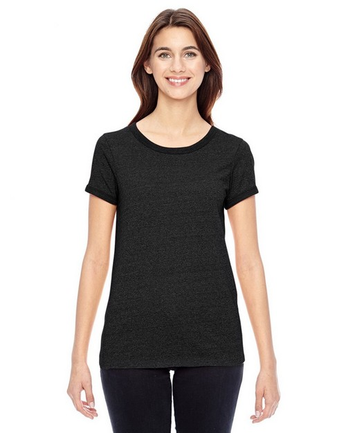 Alternative 01913E Ladies Eco-Mock Twist Ideal Ringer T-Shirt