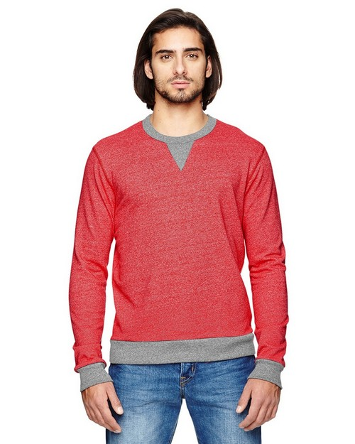 Alternative 09898E Mens Eco Mock Twist Ringer Champ Pullover