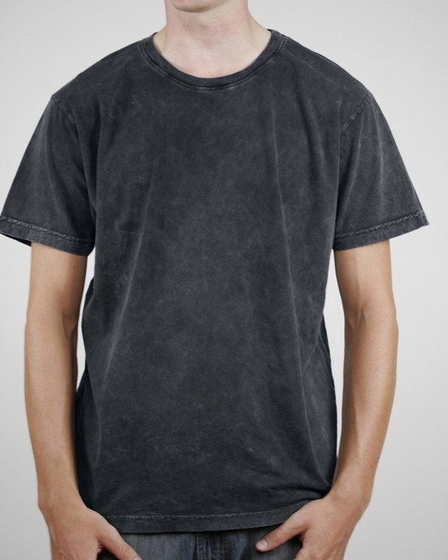 Alternative AA1088 Men's Acid Wash Basic Crew