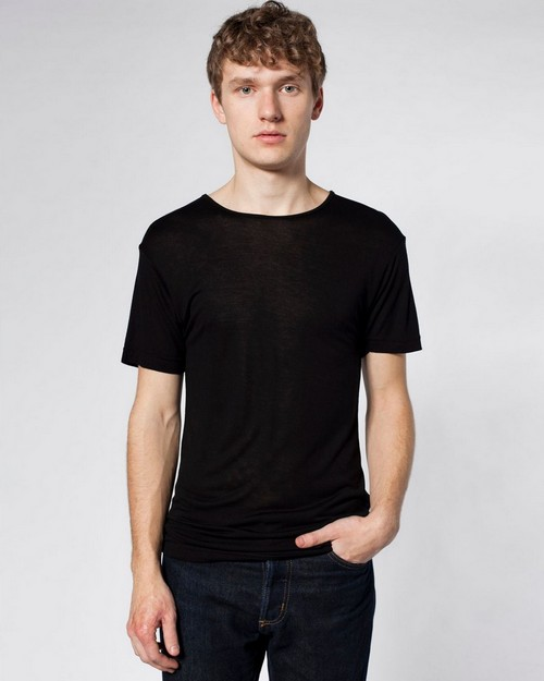 American Apparel SAVC402 Drop Ship Viscose Short Sleeve Tee