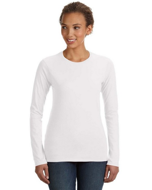 Anvil 374L Ladies Junior Fit Ringspun Long-Sleeve T-Shirt