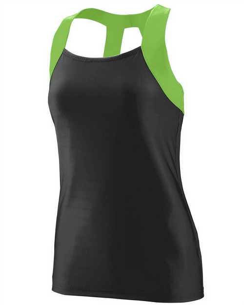 Augusta Sportswear 1209 Girls Wicking Poly/Span Open Back Tank