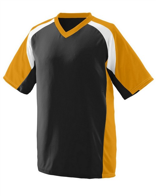 Augusta Sportswear 1536 Youth Wicking Polyester V-Neck Short-Sleeve Jersey with Inserts