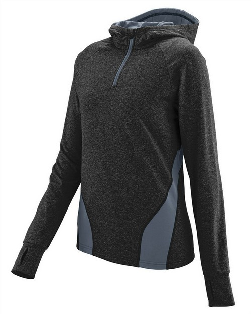 Augusta Sportswear 4812 Ladies Wicking Brushed Back Poly/Span Quarter-Zip Hoody