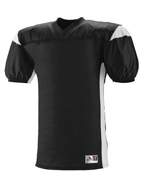 Augusta Sportswear 9521 Youth Polyester Diamond Mesh V-Neck Jersey with Contrast Dazzle Inserts
