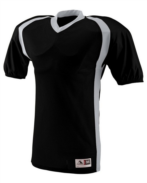 Augusta Sportswear 9530 Adult Polyester Diamond Mesh V-Neck Jersey with Contrast Side Inserts